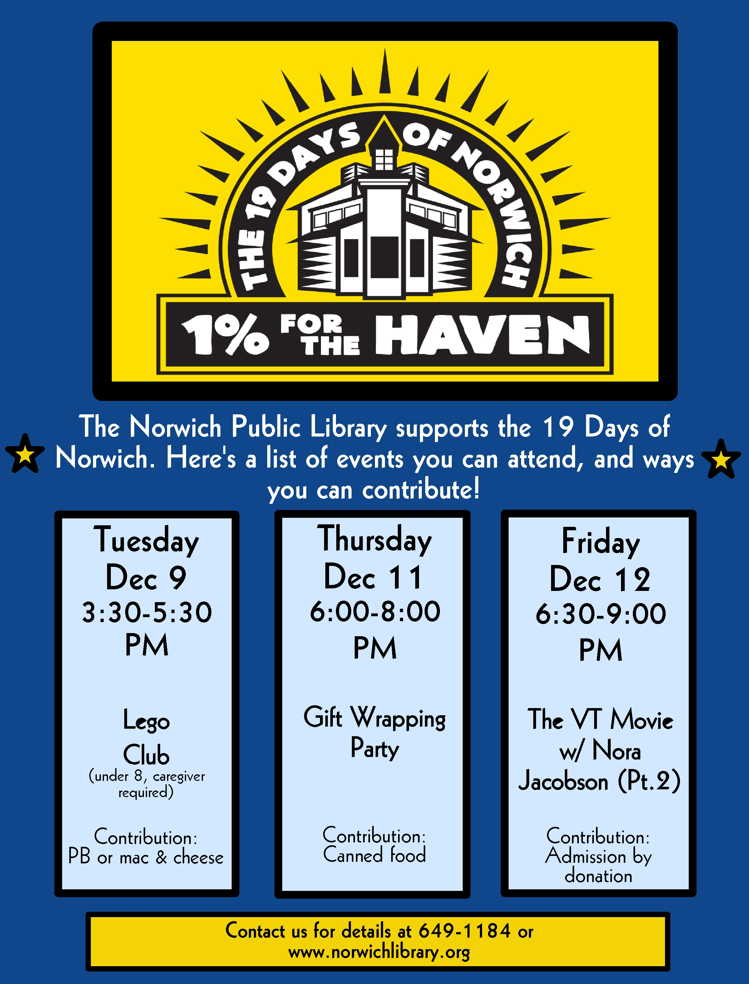 Events Benefiting 19 Days of Norwich