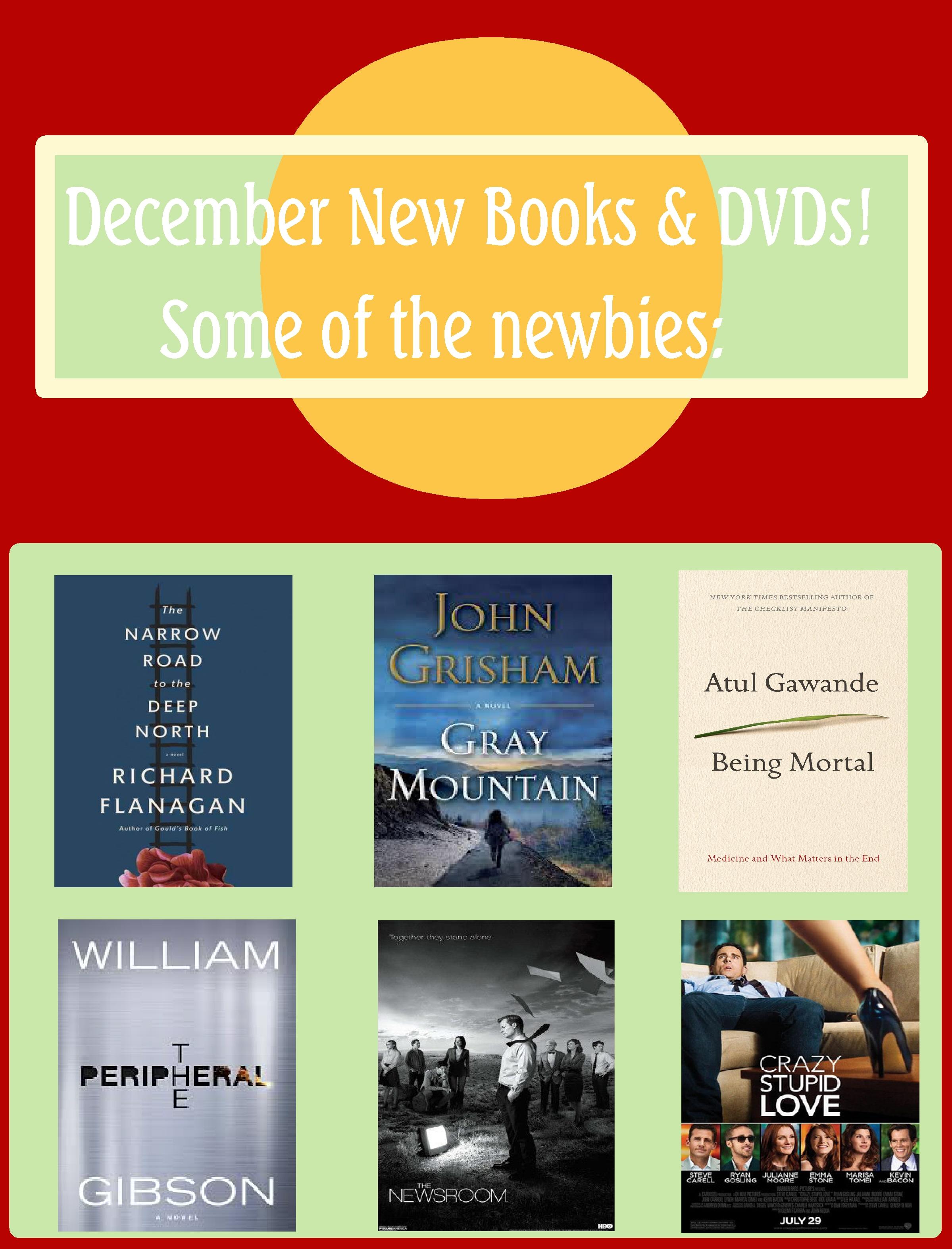 December New Books & DVDs