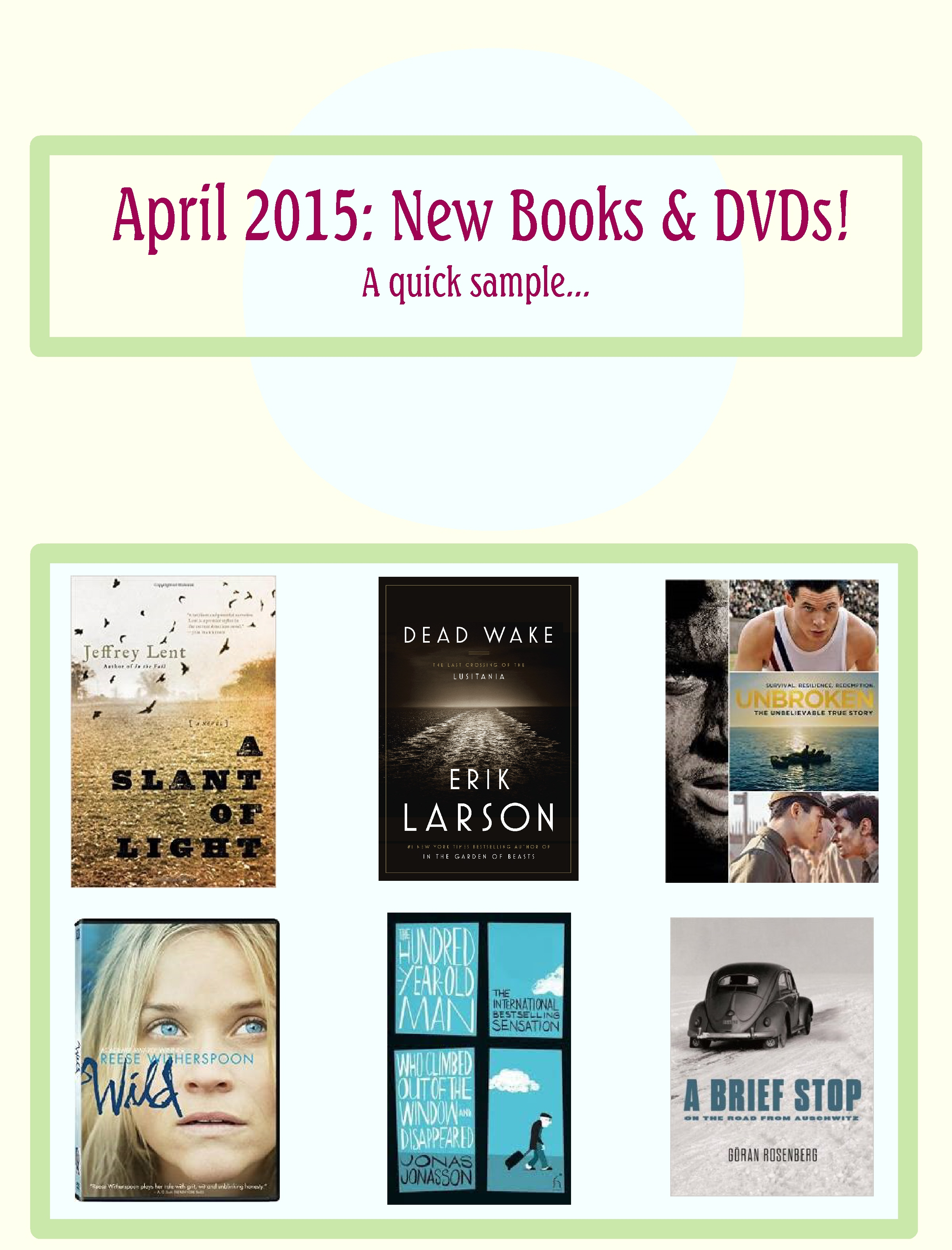 In case you missed it: New Books and DVDs from April